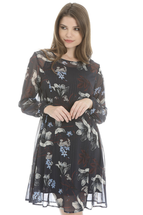 Lamé georgette dress Intrend