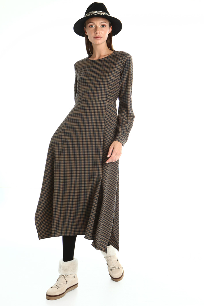 Wool flannel dress Intrend