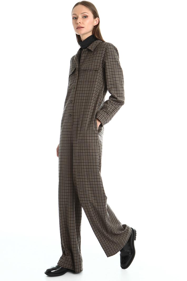 Wool flannel jumpsuit Intrend