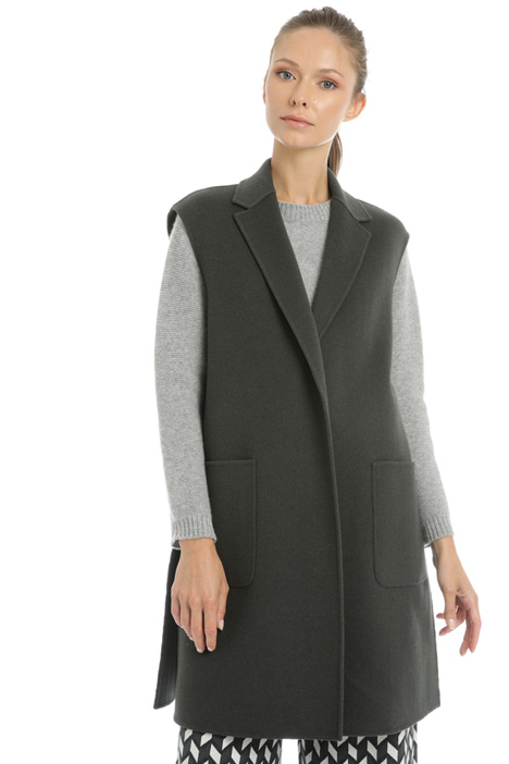 Long wool vest Intrend
