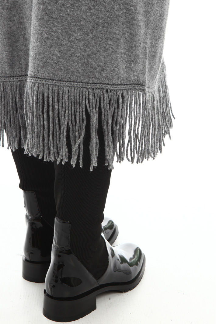 Fringed alpaca skirt Intrend
