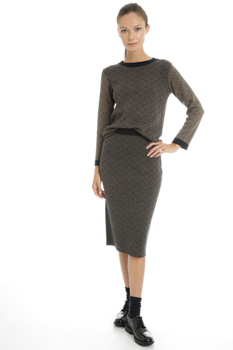 Knit tube skirt in wool Intrend