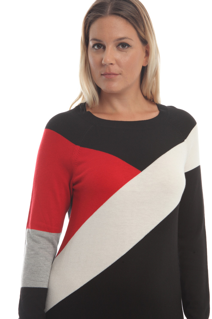 Viscose and cashmere dress Intrend