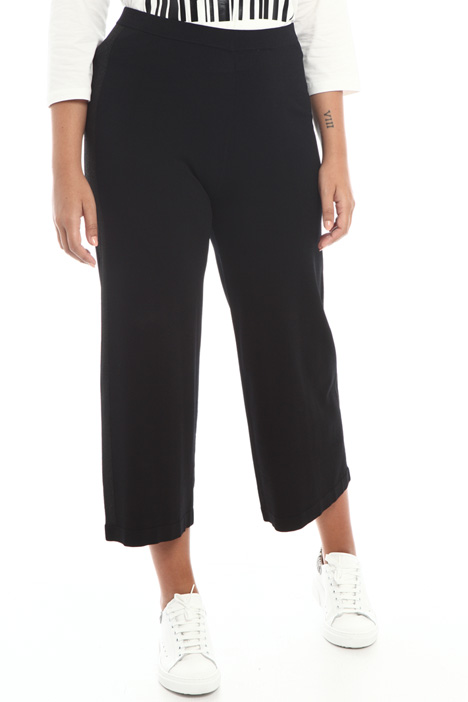 Crop knit trousers Intrend