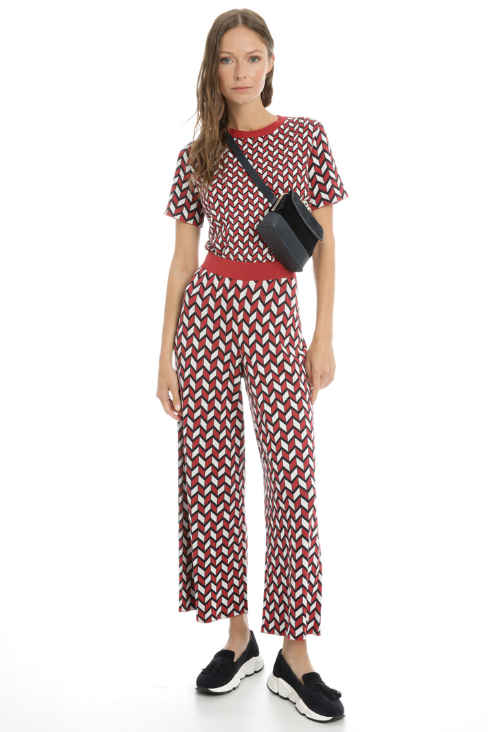 Trousers with jacquard motif Intrend