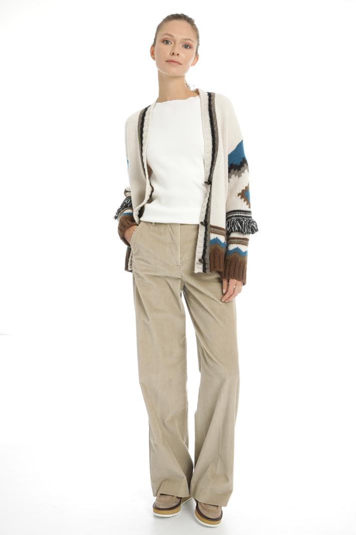 Wool inlay cardigan Intrend