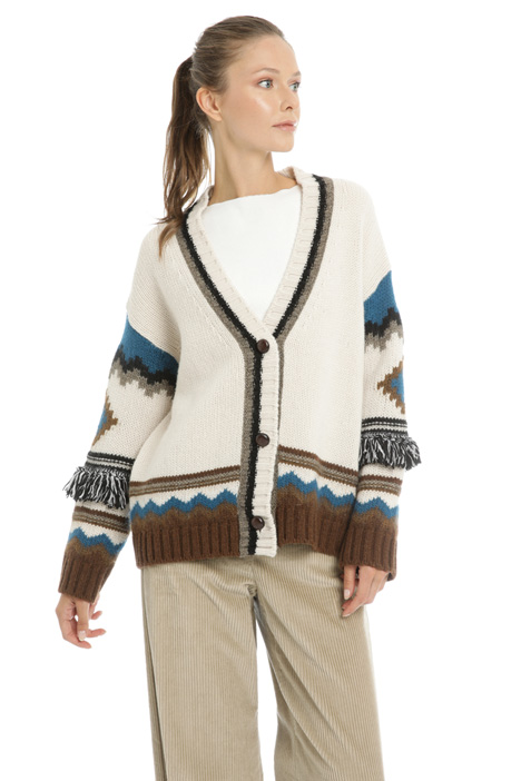 Wool inlay cardigan Intrend