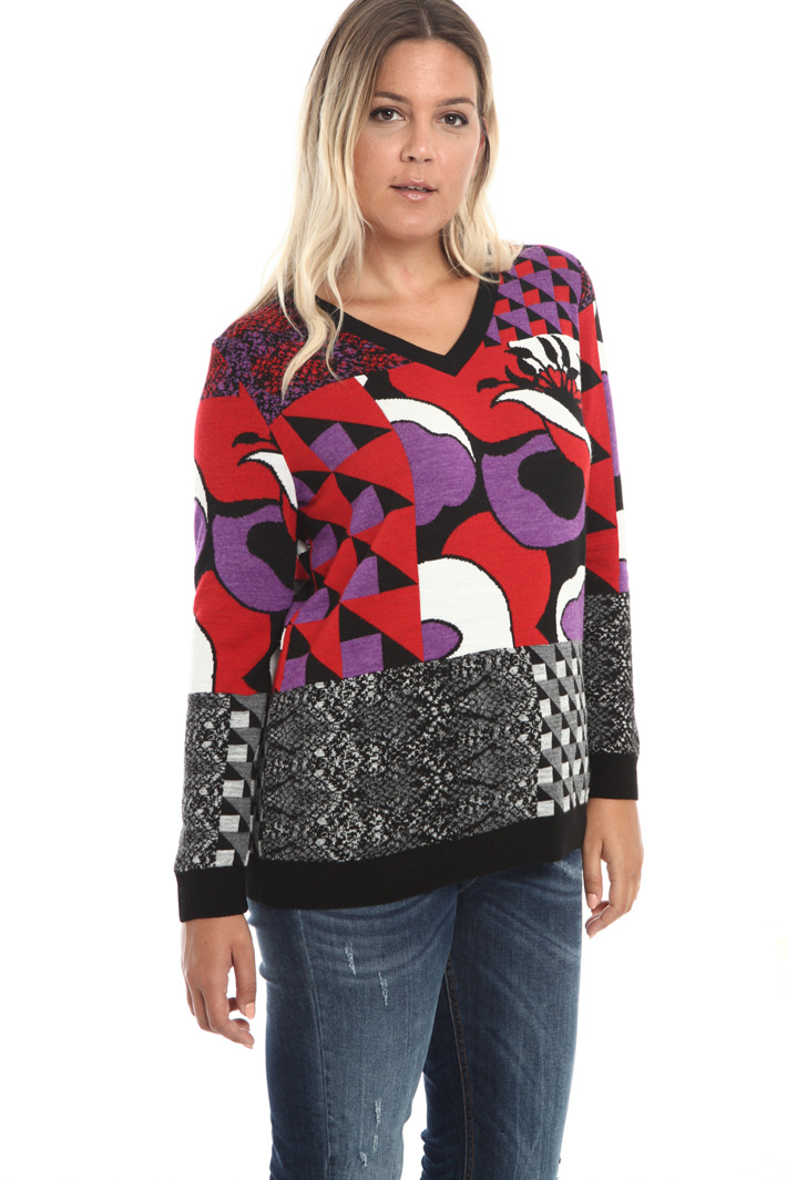 Wool and viscose sweater Intrend