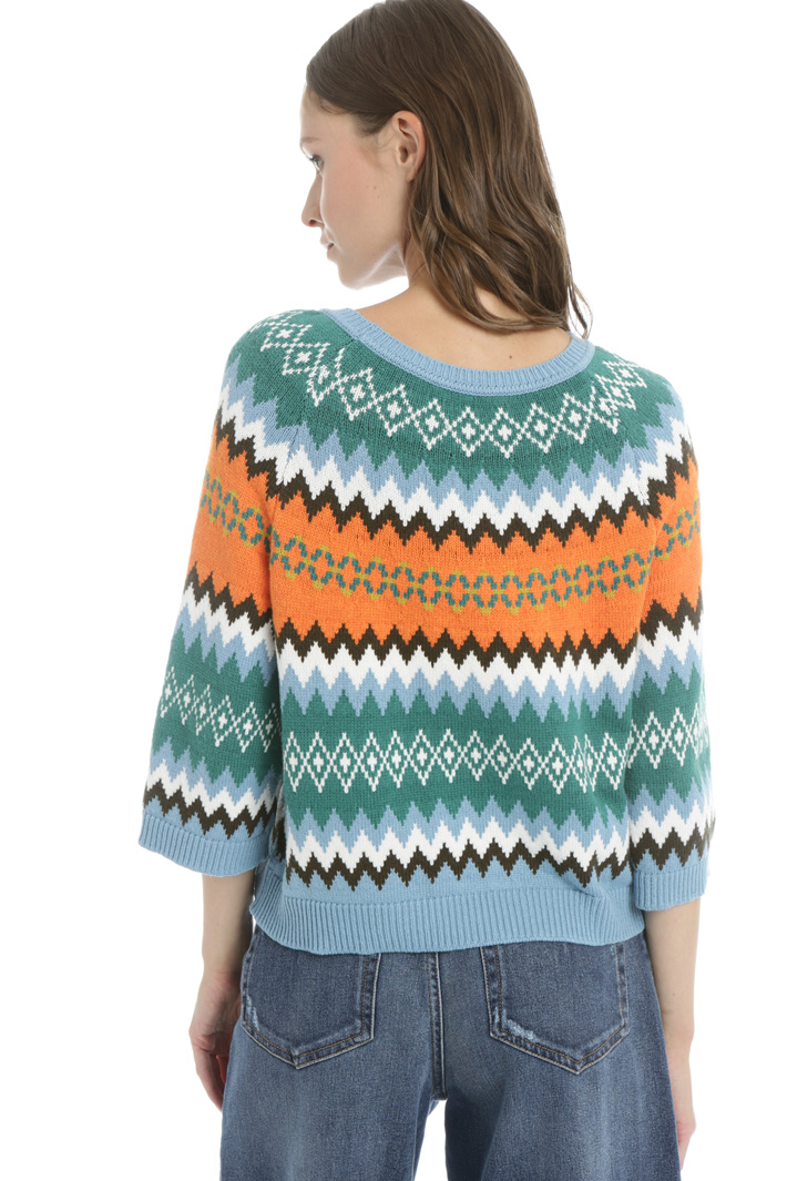 Jumper in jacquard yarn Intrend