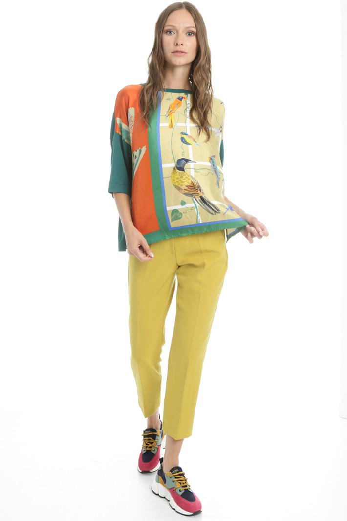 Silk shirt sleeve sweater Intrend