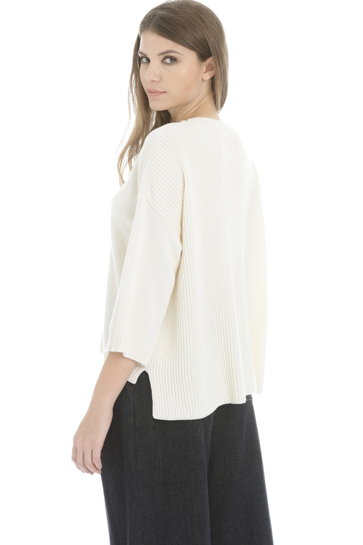 Cotton and wool yarn sweater Intrend