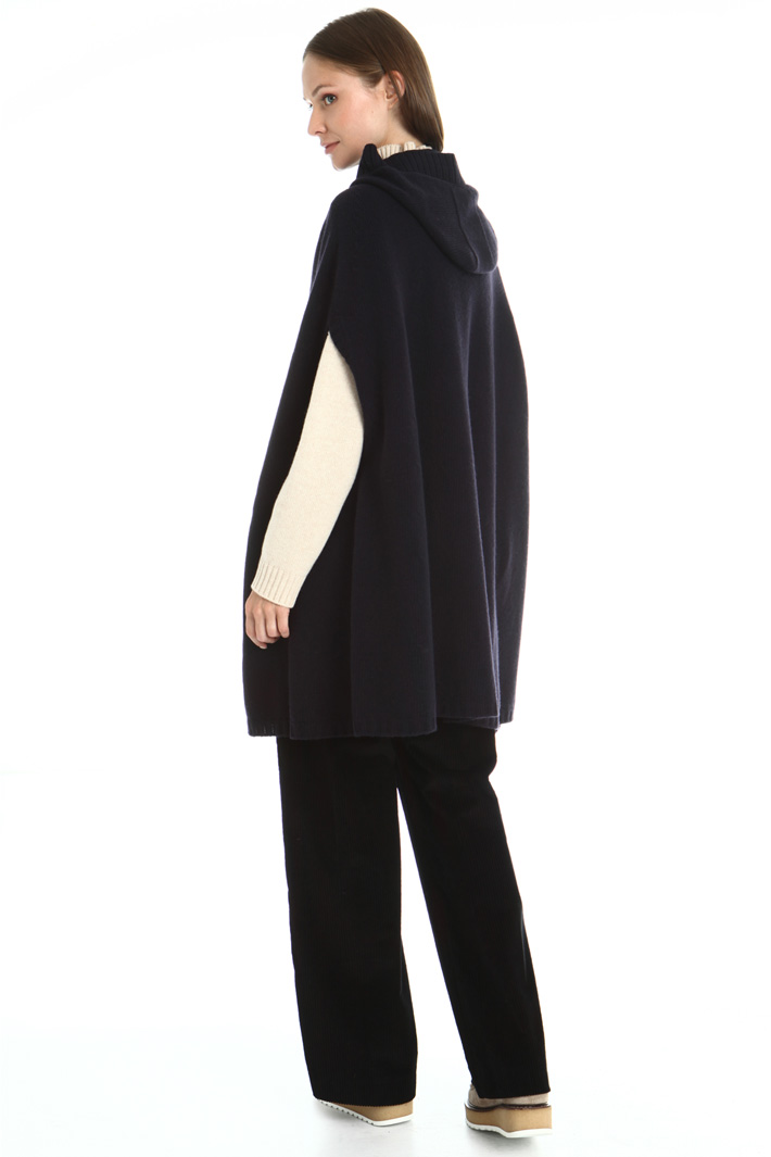 Hooded wool cape Intrend