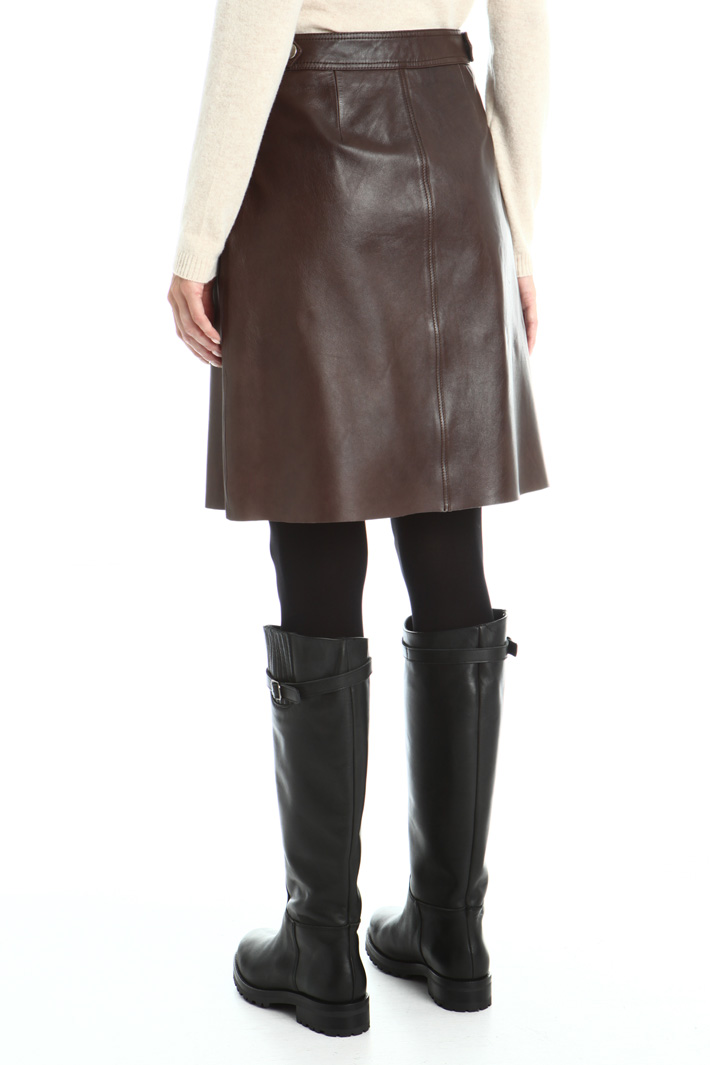 Leather mini skirt Intrend