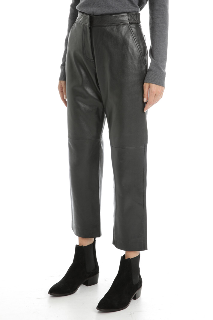 Genuine leather trousers Intrend