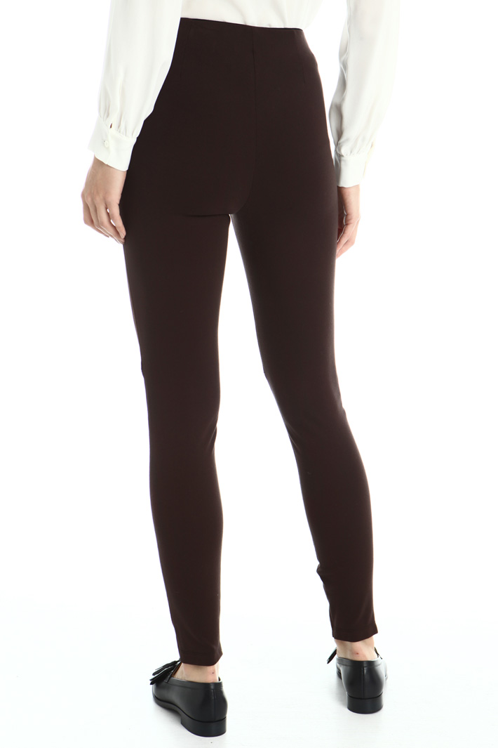 Skinny fit suede trousers Intrend