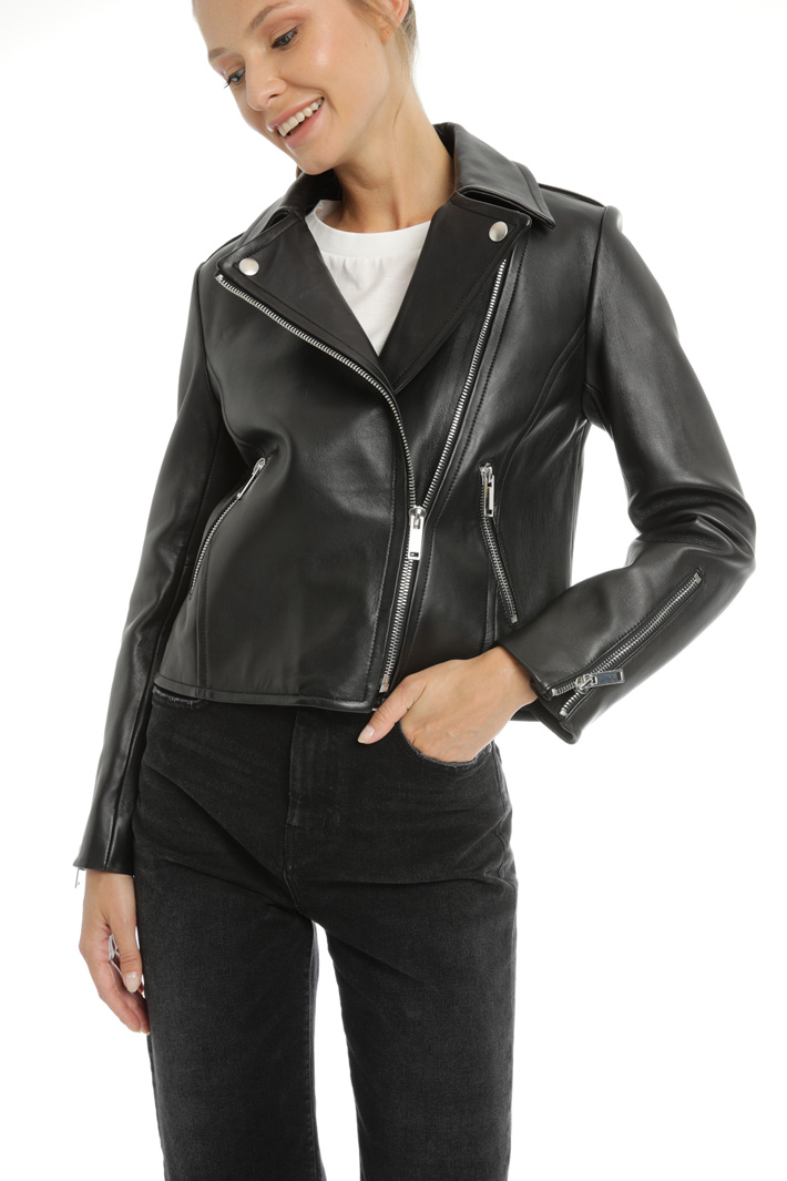 Nappa leather jacket Intrend