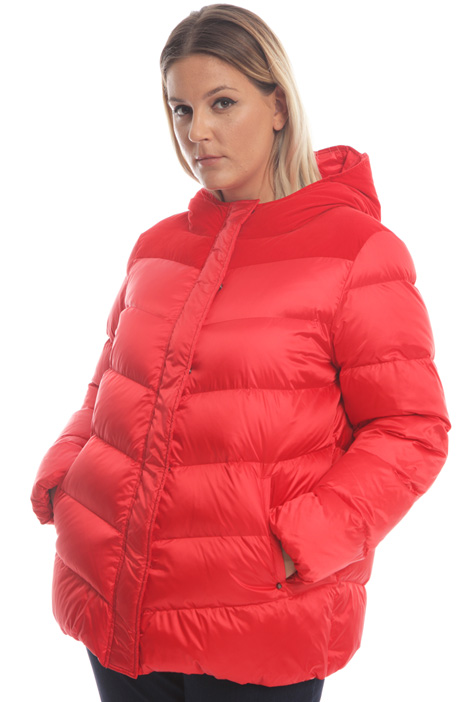Down jacket in gabardine Intrend