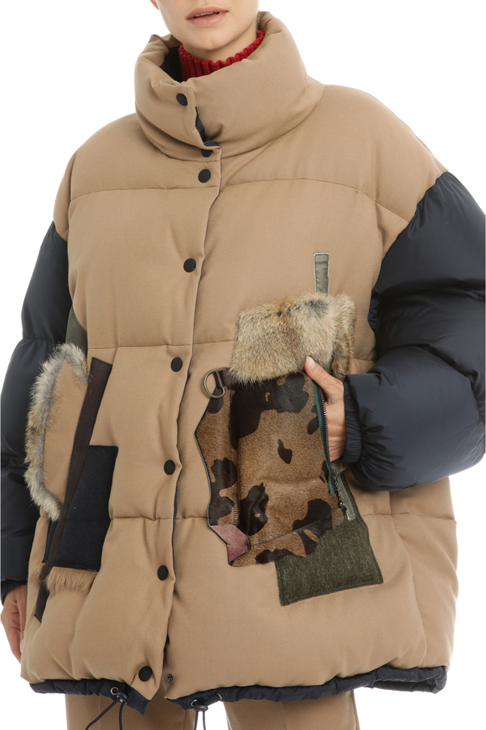 Wool flannel padded jacket Intrend