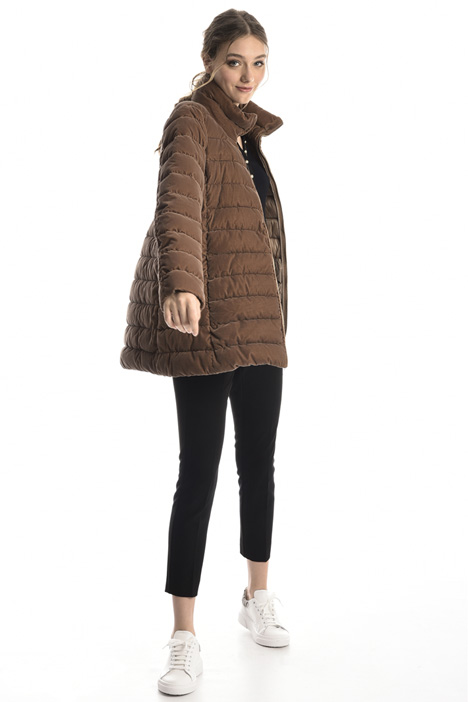 Velvet effect puffer coat Intrend