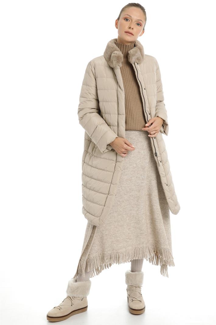 Long taffeta down coat Intrend