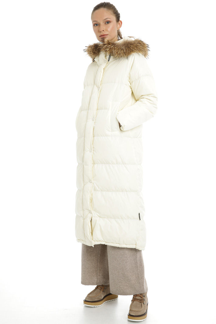 Long taffeta down coat Intrend