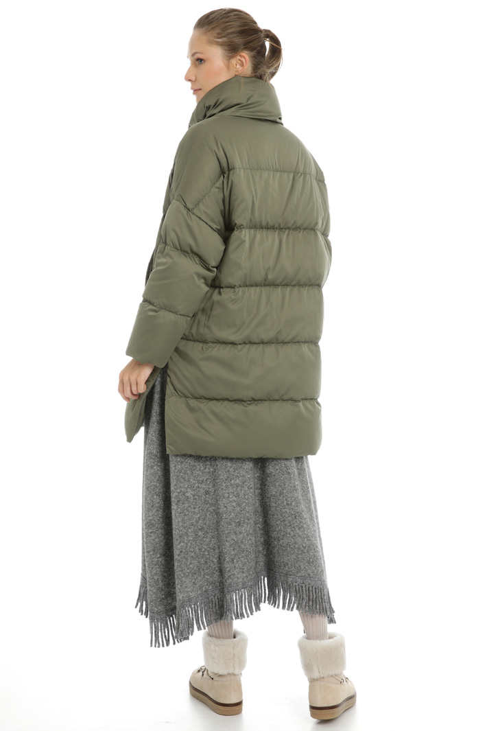 Down coat with side slits Intrend