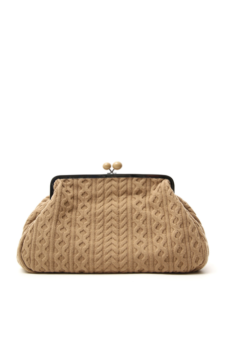 Knitted maxi clutch bag Intrend