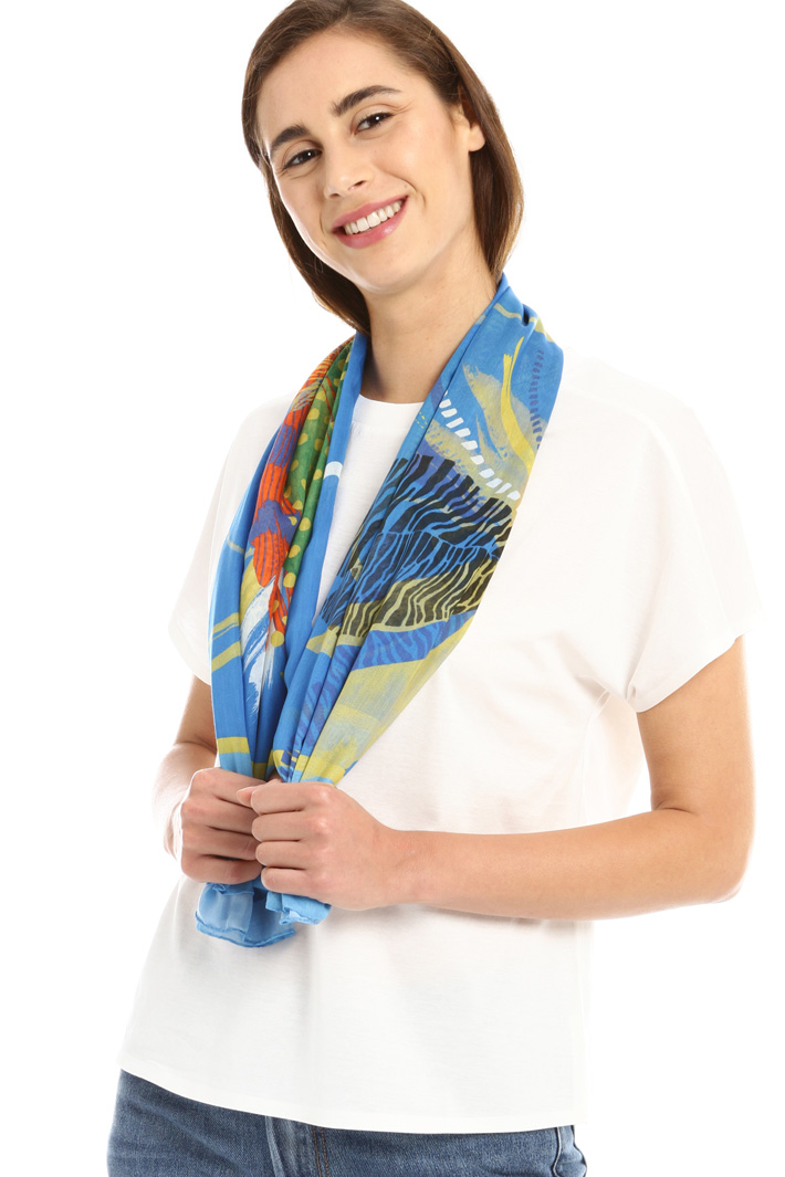 Silk and cotton scarf Intrend