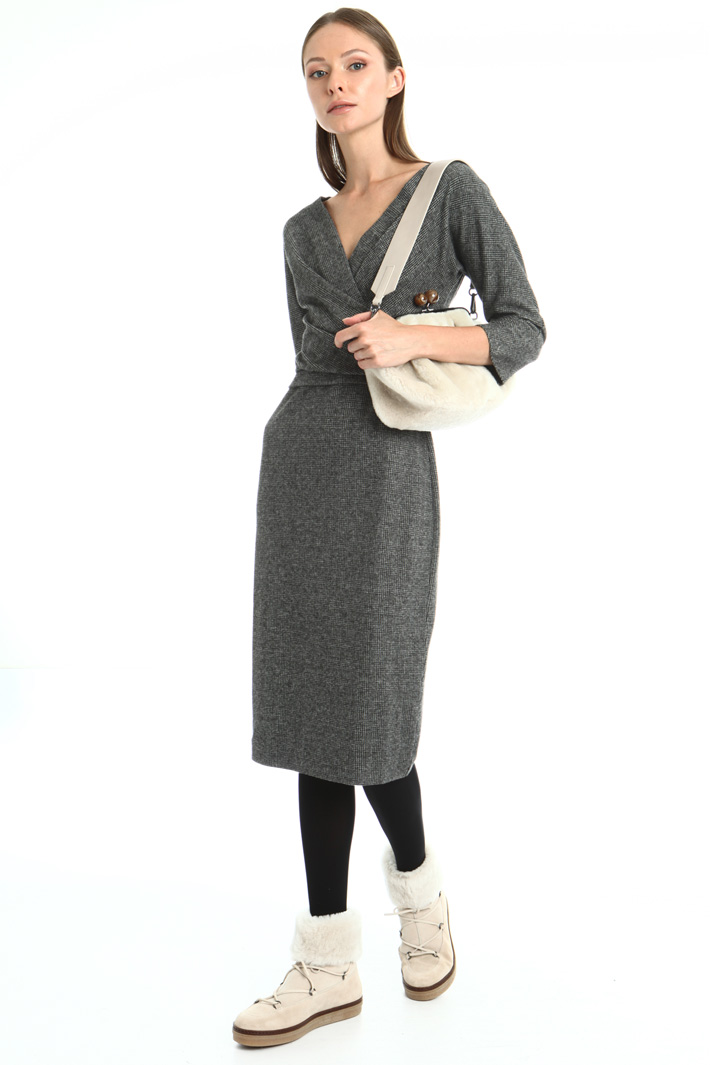 Jacquard sheath dress Intrend
