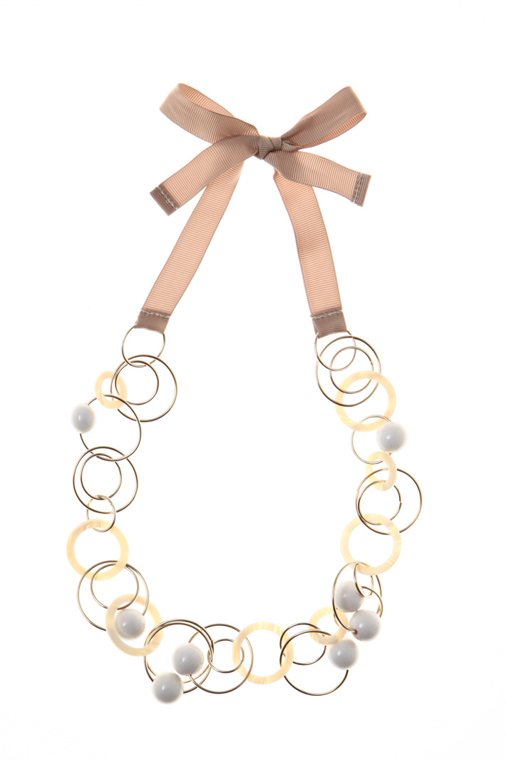 Necklace with gold rings Intrend