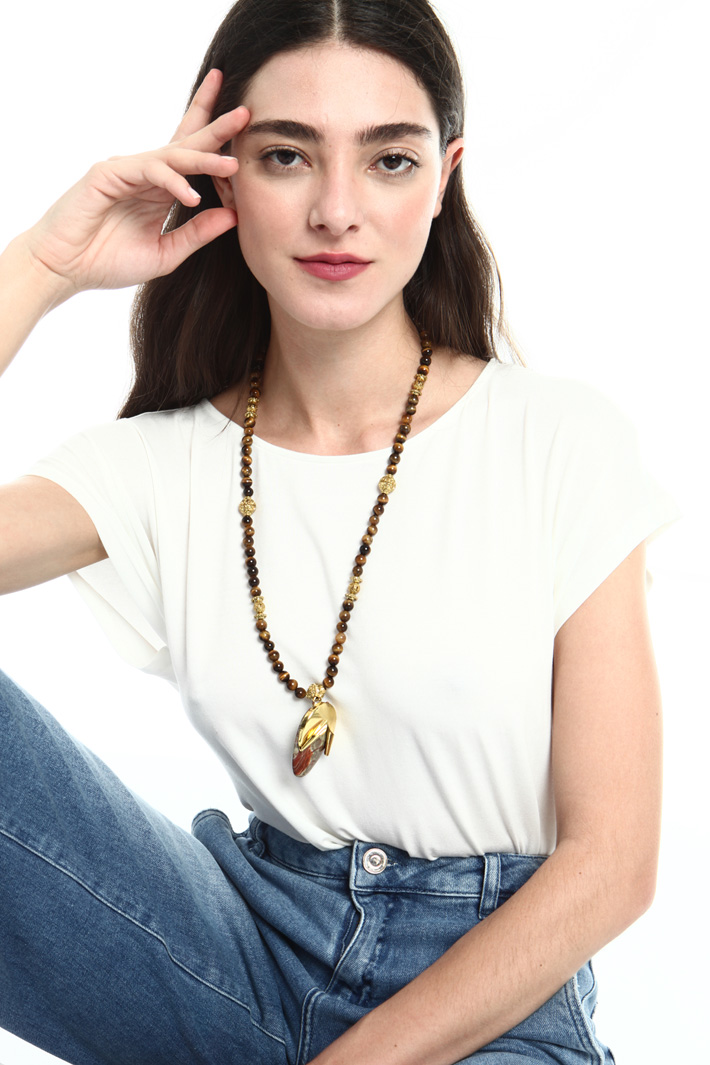 Natural stone necklace Intrend