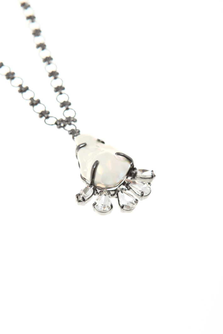 Necklace with glass pendant Intrend