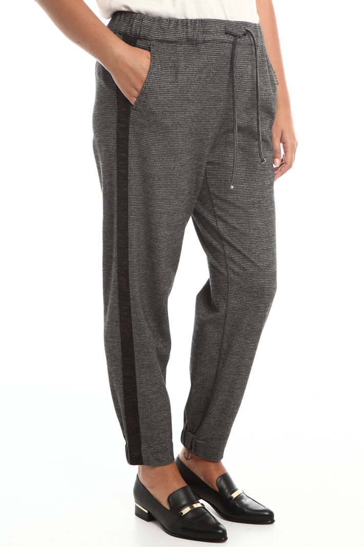 Yarn dyed jersey trousers Intrend