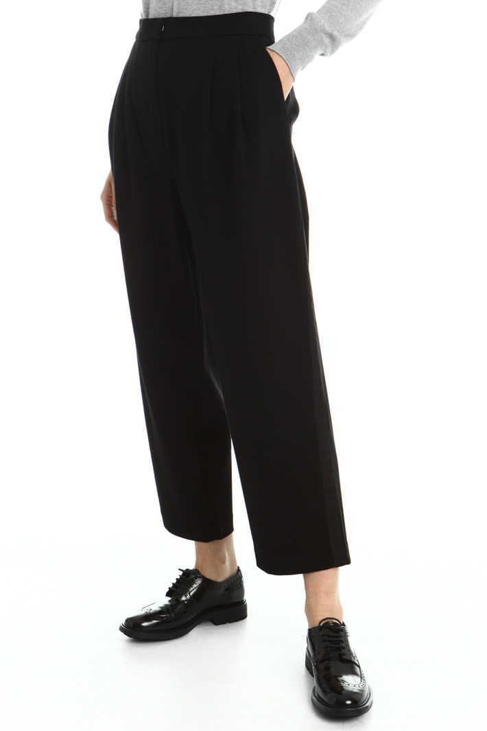 Crop leg jersey trousers Intrend
