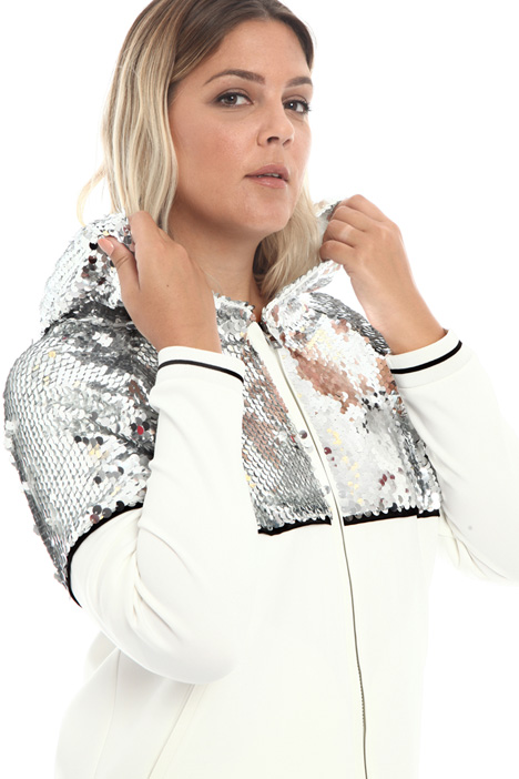 Sequinned jersey sweatshirt Intrend
