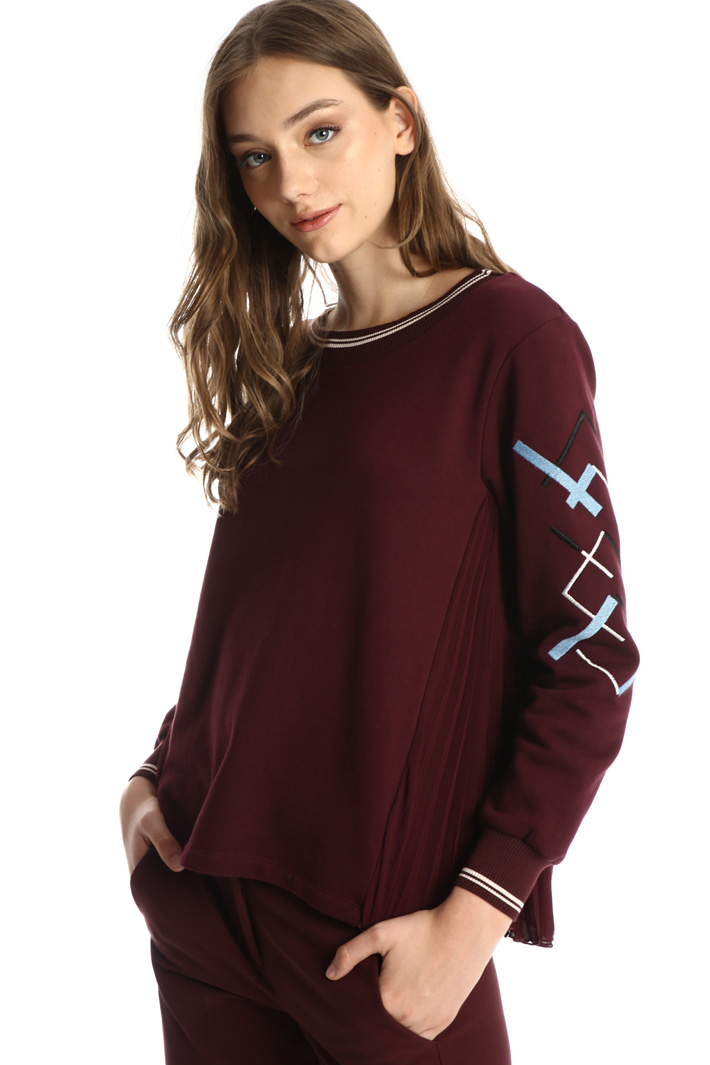 Embroidered cotton sweatshirt Intrend