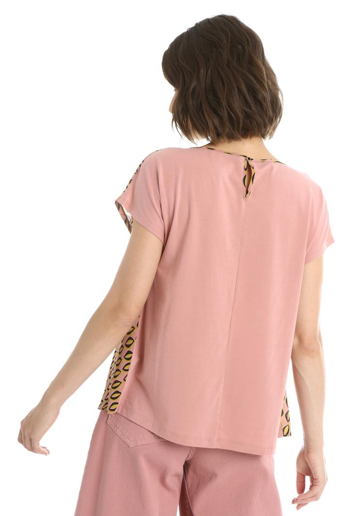 Silk front T-shirt Intrend