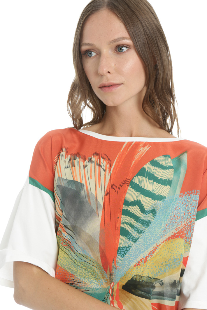 Silk crepe de chine T-shirt Intrend
