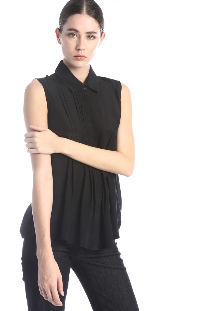 Top in silk and jersey Intrend