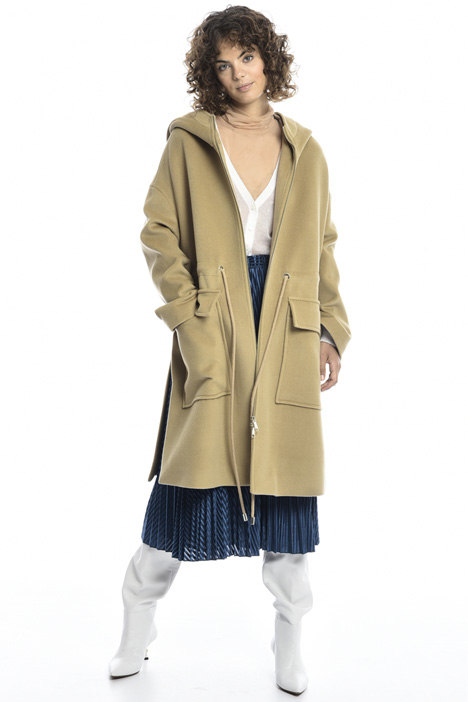 Cappotto in lana con coulisse Intrend