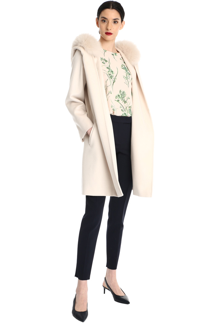 Wool coat with fur trim Intrend