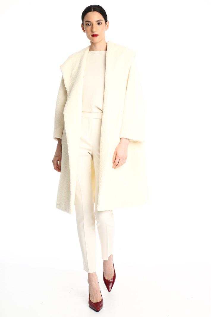 Alpaca and wool hooded coat Intrend