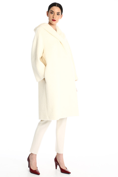 Alpaca and wool hooded coat Intrend