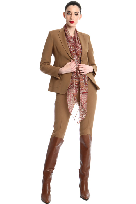 Wool crepe satin blazer Intrend
