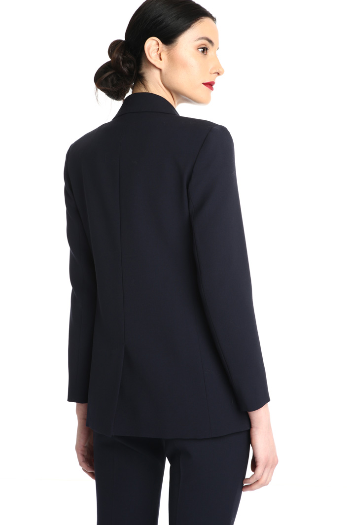 Wool crepe satin blazer Intrend