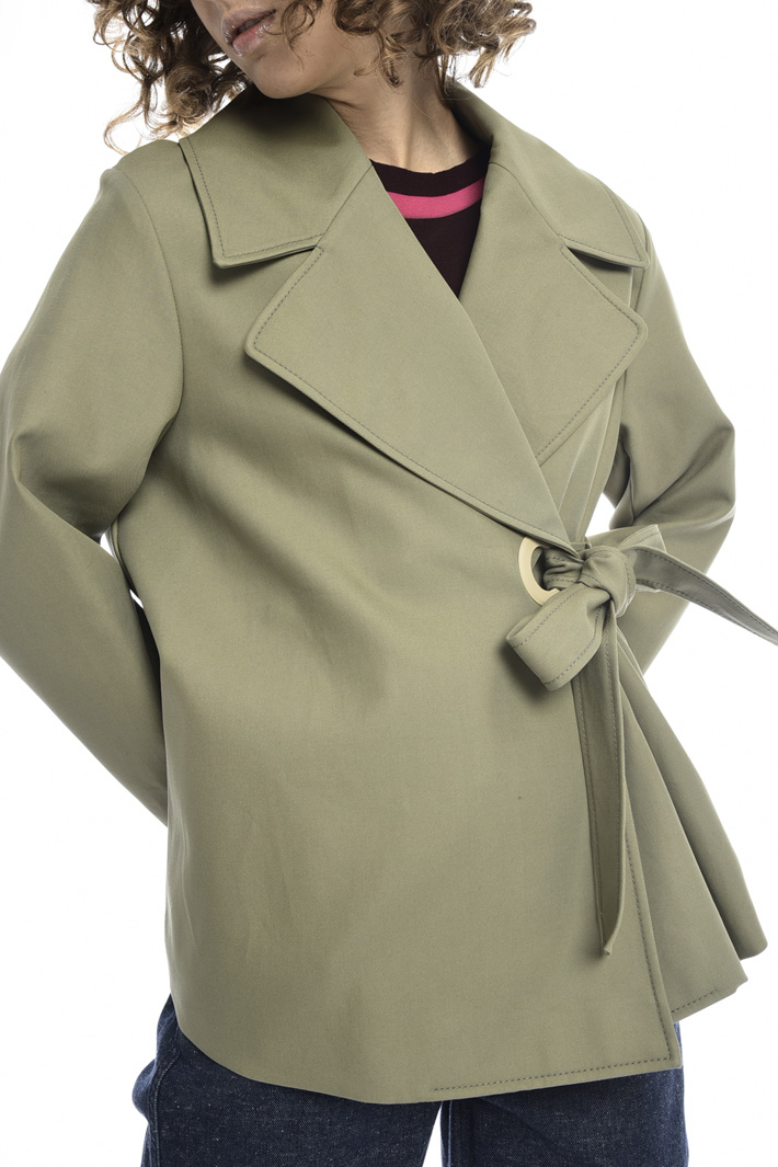 Pea coat with side fastening   Intrend