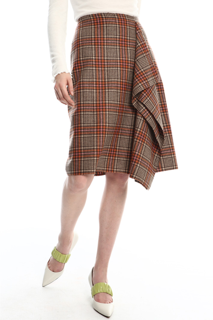 Ruffled checked skirt  Intrend