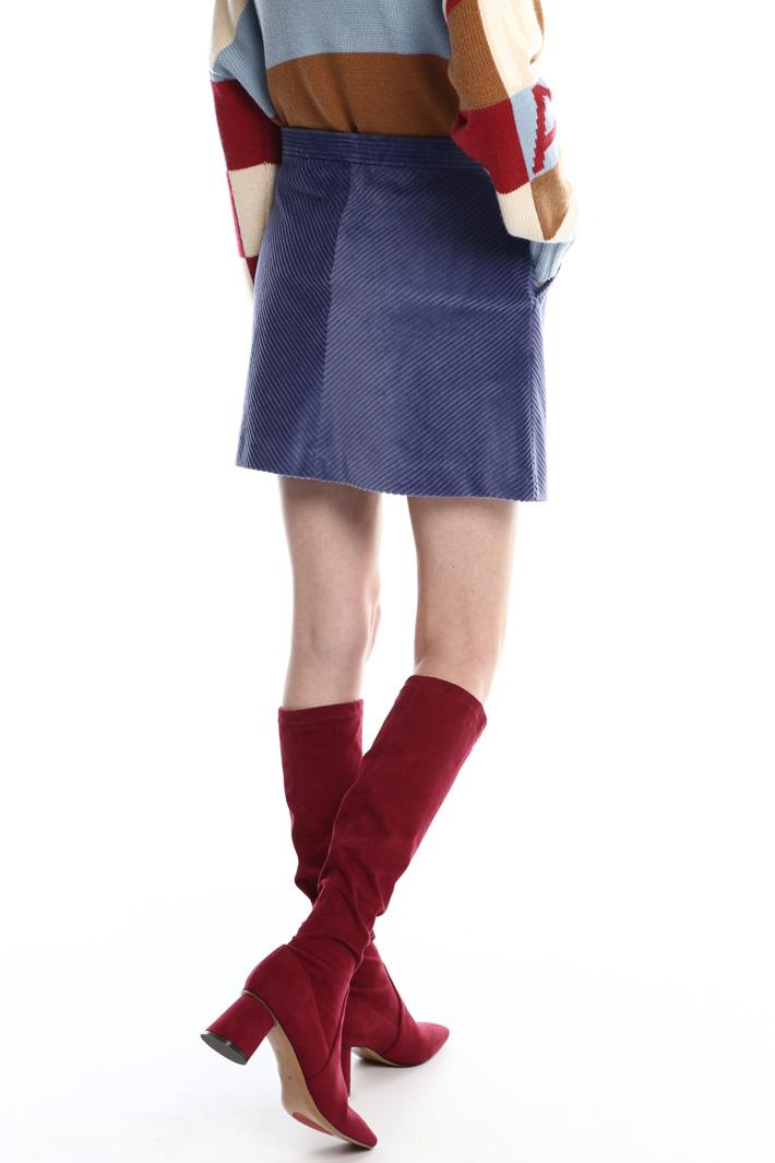 Corduroy mini-skirt  Intrend