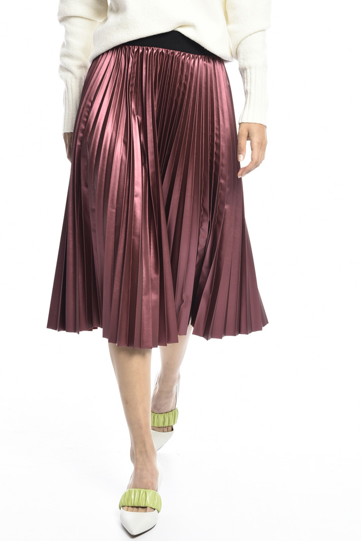 Lamé pleated midi skirt Intrend