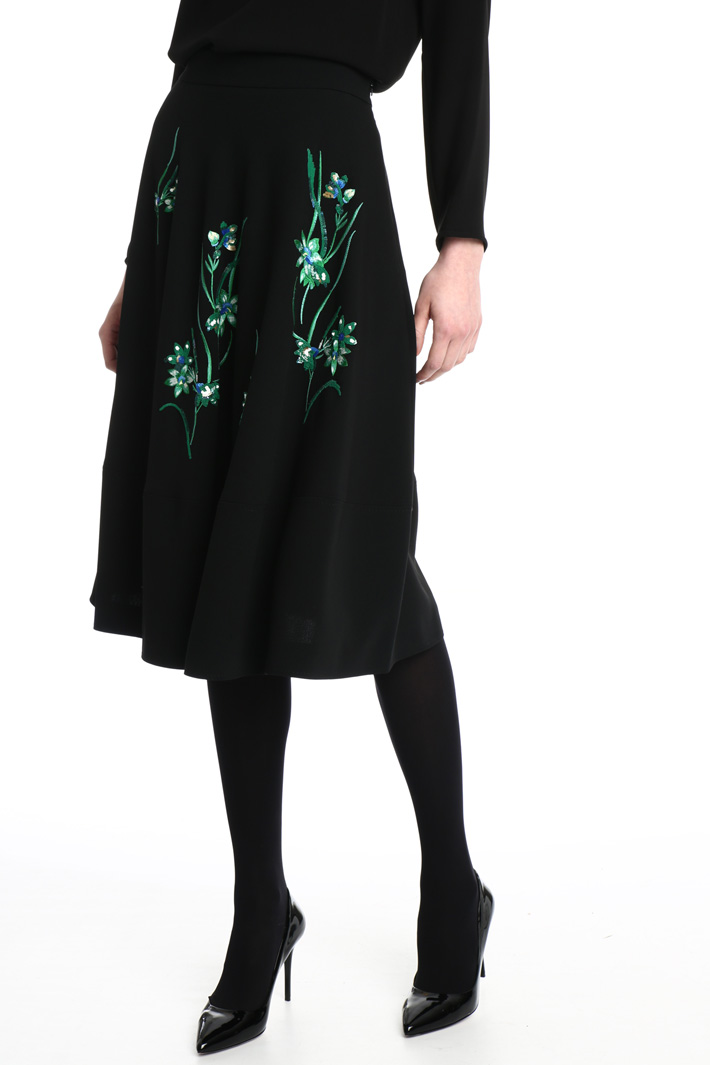 Embroidered cady skirt Intrend
